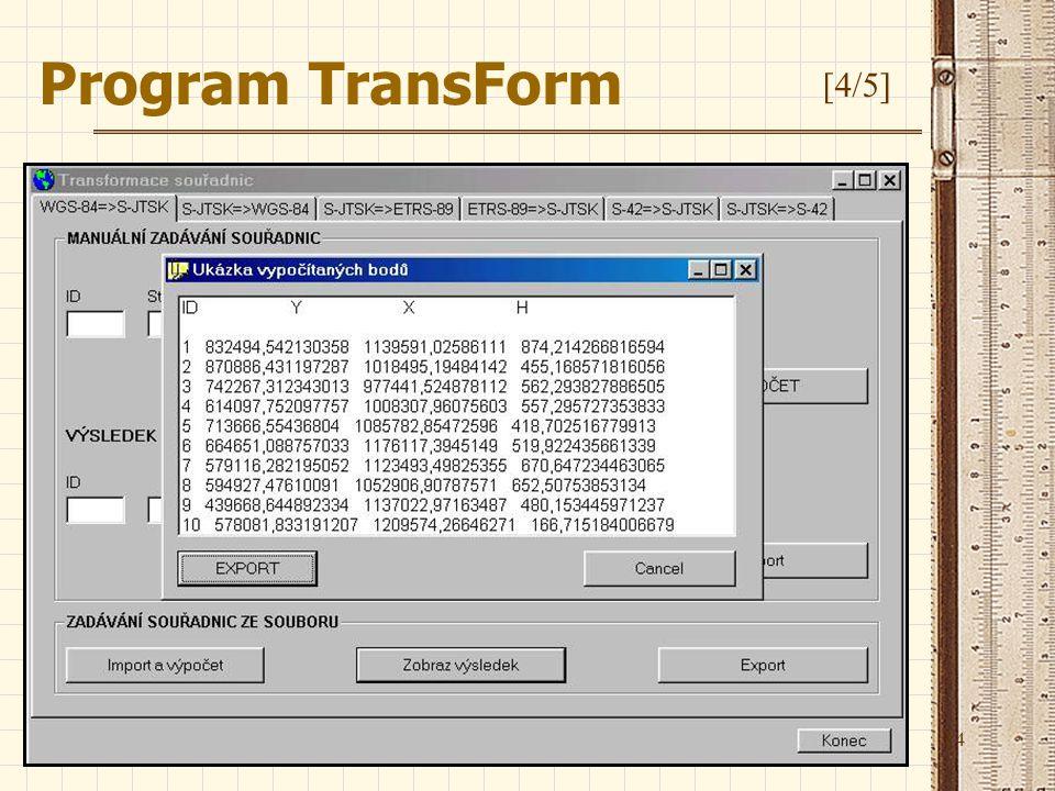 Program TransForm [4/5]